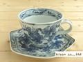 【染付】ぶどうコーヒー碗皿/9.5x7cm/単品/MADE IN JAPAN