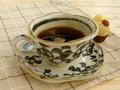 【土物の器】染付タコ唐草コーヒー碗皿/単品/MADE IN JAPAN