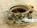 【土物の器】染付タコ唐草コーヒー碗皿/手描き/単品/MADE IN JAPAN