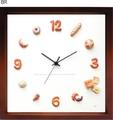 パン屋さん、カフェ、パン好きさん必見!かわいいパンの掛時計[Horloge du pain]