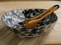 【土物の器】タコ唐草三つ足大鉢/26x24.5x8cm/鉢/単品/MADE IN JAPAN