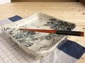 【土物の器】古染ぶどう四角大鉢/24.5x5.5cm/鉢/単品/MADE IN JAPAN