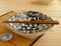 【土物の器】染付タコ唐草多用鉢/19.5x6cm/鉢/単品/MADE IN JAPAN
