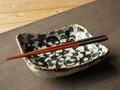 【土物の器】染付タコ唐草漬物鉢/20x16x5cm/単品/MADE IN JAPAN