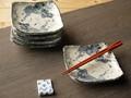 【土物の器】手描きぶどう銘々皿揃/15x14x4.5cm/セット/MADE IN JAPAN