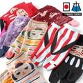 【粋な女の靴下】婦人 綿混 日本柄デザイン 足袋ショート丈ソックス