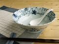 【入荷しました】【染付ラーメン】染付つた絵ラーメン鉢/19.5x7cm/単品5個入(発注単位5)/MADE IN JAPAN