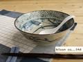 【染付ラーメン】古染花鳥ラーメン鉢/19.5x7cm/5個入/MADE IN JAPAN
