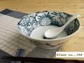 【染付ラーメン】染付網浜絵ラーメン鉢/19.5x7cm/5個入/MADE IN JAPAN