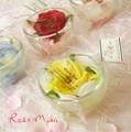 【グラスに香りつきのバラと花びらが入っています☆インテリアのアクセントに・・・】グラス ド ローズ