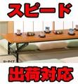 【直送可】会議用テーブル 【折りたたみテーブル】ロータイプ棚なし