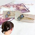 【aller au lit】square domeヘアピン- shine ラメライン-