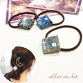 【aller au lit】square domeゴムポニー- shine ラメライン-