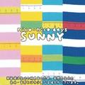 【生地】【カットクロス】【反売り】nico-nico days SUNNY SCALE BORDER柄 シーチング