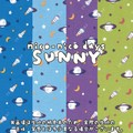 【生地】【カットクロス】【反売り】nico-nico days SUNNY COSMO柄 シーチング
