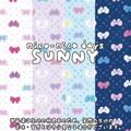 【生地】【カットクロス】【反売り】nico-nico days SUNNY RIBBON柄 シーチング