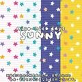【生地】【カットクロス】【反売り】nico-nico days SUNNY STAR柄 シーチング