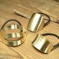 ** NEW。ゴールドメッキ バリエ アイアンヘアゴム/ポニー 3型展開。シンプルテイスト**