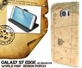 <スマホケース>Galaxy S7 edge SC-02H/SCV33用ワールドデザインケースポーチ
