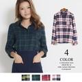 ◆2016AW新作◆ビエラチェックプレーンシャツ/AW/秋/冬/ 4カラー
