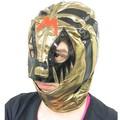 【パーティー イベント】Mマスク ゴールド メキシカンレスラーマスク コスチューム プロレス