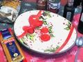 【イタリア製】クリスマス おしゃれ 南欧食器 陶器 オーバル プレート ハンドメイド  リボン 柊