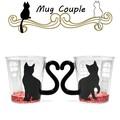 【耐熱ガラス】マグカップルガラス 黒猫ハウス【ねこ】【ペア】【ギフト】