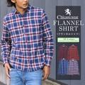 Chicago Wear ネルシャツ チェックシャツ 長袖 カジュアルシャツ メンズ オシャレ
