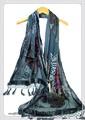 ビロード風アニマル蝶々柄ビーズ刺繍入りストール 9900g