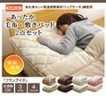 旭化成センイ トップサーモ使用 毛布 敷きパッド 2点セット 洗える 『フランアイズ毛布敷P2点 IT』