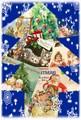 【新商品】Rakka ヴィクトリアン クリスマス ポストカード RVX03