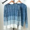 【SALE セール】 メンズ ケーブル編み グラデーション インディゴニット / フィッシャーマン セーター