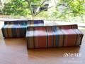 ティッシュカバー【リノ】12.5×22.5×11cm ティッシュボックスカバー 全2色 tente