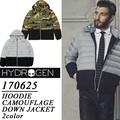 ◆お買い得秋冬商材◆★大特価★HYDROGEN ハイドロゲン フード着脱可 バイカラー ダウンジャケット