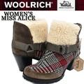 【激安!】◆お買い得秋冬商材◆Woolrich ウールリッチ 切り替え ボア  ヒールブーツ<ラスト3点>