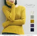 【SALE】【2016秋冬新作】長めの袖丈がおしゃれなラインニットトップス