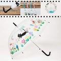 【colobockle】肉球ストッパービニール傘【猫花畑・くじら】大人用・子供用