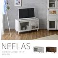 【送料無料】NEFLAS(ネフラス)テレビ台 ローボード(90cm幅)WH/BR