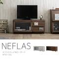 【送料無料】NEFLAS(ネフラス)テレビ台 ローボード(120cm幅)WH/BR