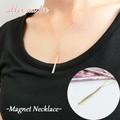 【aller au lit】-Magnet Necklace-クリスタル×ゴールドライン