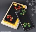 <スマホケース>越前職人による漆塗り 越前漆塗りiPhone7/iPhone6/6s用ケース 1 青海波/紗綾形
