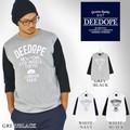 DEEDOPE 七分Tシャツ ベースボールアンダーシャツ メンズ カットソー