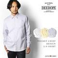 【DEEDOPE】 長袖シャツ ワイシャツ メンズ ビジネス ポケットチーフ付き