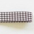 【リボン/15mm巾】06 check - brown 50cm単位でカット販売
