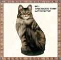 【アメリカ製】猫のドアストッパー(Long-Haired Tabby Cat)