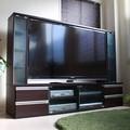 【7月7日以降順次出荷予定】テレビ台 テレビボード ゲート型 60インチ 大型テレビ対応  ダークブラウン