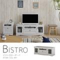 【送料無料】Bistro(ビストロ)テレビ台 ローボード(120cm幅)WH/LBR
