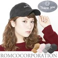 スマイルロゴ刺繍 スエードCAP帽