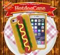 <おもしろケースシリーズ!>見てるだけで食欲が!?!iPhone7/6s/6用ホットドッグケース!