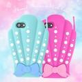 <おもしろケースシリーズ!>【新色追加】乙女チックな貝型♪ iPhone7専用マーメイドシェルケース